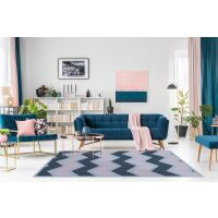 Vinyl Teppich MATTEO Scandinavian 16 dunkelblau 40 x 60 cm