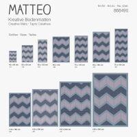 Vinyl Teppich MATTEO Scandinavian 16 dunkelblau 118 x 180 cm