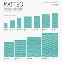 Vinyl Teppich MATTEO Scandinavian 7 Anker türkis 60 x 90 cm