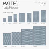 Vinyl Teppich MATTEO Scandinavian 9 Anker hellblau