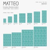Vinyl Teppich MATTEO Scandinavian 10 türkis 70 x 140 cm