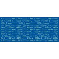 Vinyl Teppich MATTEO Scandinavian 12 blau 50 x 120 cm