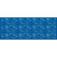 Vinyl Teppich MATTEO Scandinavian 12 blau 70 x 180 cm