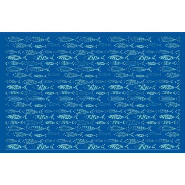 Vinyl Teppich MATTEO Scandinavian 12 blau 118 x 180 cm