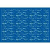 Vinyl Teppich MATTEO Scandinavian 12 blau 140 x 200 cm