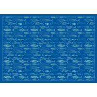 Vinyl Teppich MATTEO Scandinavian 12 blau 170 x 240 cm