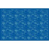 Vinyl Teppich MATTEO Scandinavian 12 blau 198 x 300 cm