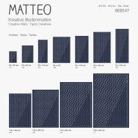 Vinyl Teppich MATTEO Scandinavian 17 Dunkelblau 70 x 140 cm