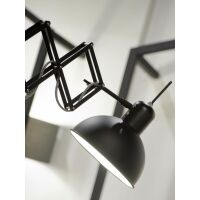 Wandlampe Aberdeen Eisen Matt schwarz