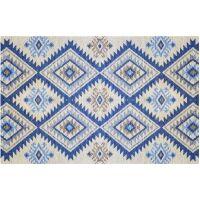 Vinyl Teppich MATTEO Azteken blau 90 x 135 cm