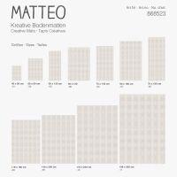 Vinyl Teppich MATTEO Ethno 7 Beige 40 x 60 cm