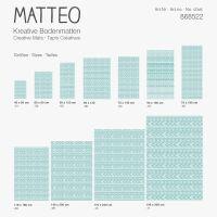 Vinyl Teppich MATTEO Ethno 6 türkis 60 x 90 cm