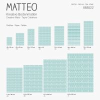 Vinyl Teppich MATTEO Ethno 6 türkis 70 x 180 cm
