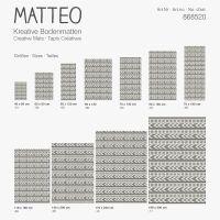 Vinyl Teppich MATTEO Ethno 4 grau