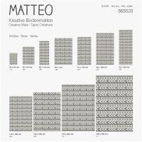 Vinyl Teppich MATTEO Ethno 4 grau 50 x 120 cm