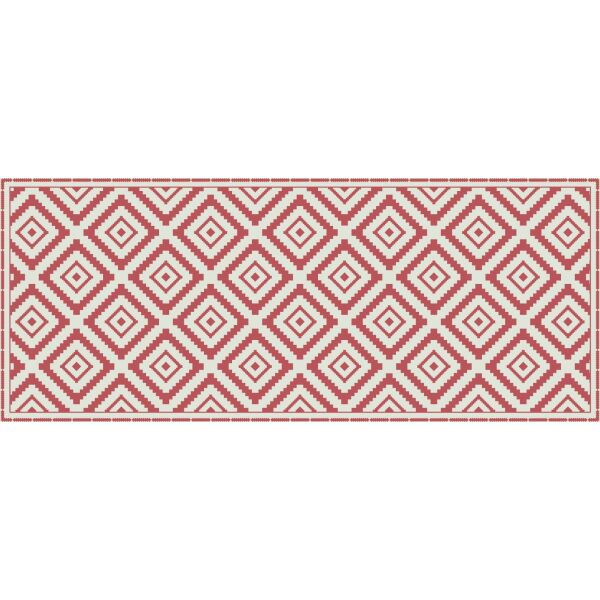 Vinyl Teppich MATTEO Ethno 1 rot 50 x 120 cm