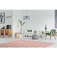 Vinyl Teppich MATTEO Ethno 1 rot 70 x 140 cm