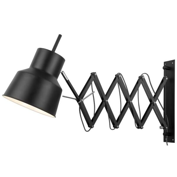 Wandlampe Belfast Eisen Matt schwarz