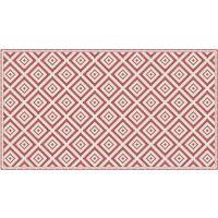 Vinyl Teppich MATTEO Ethno 1 rot 90 x 160 cm