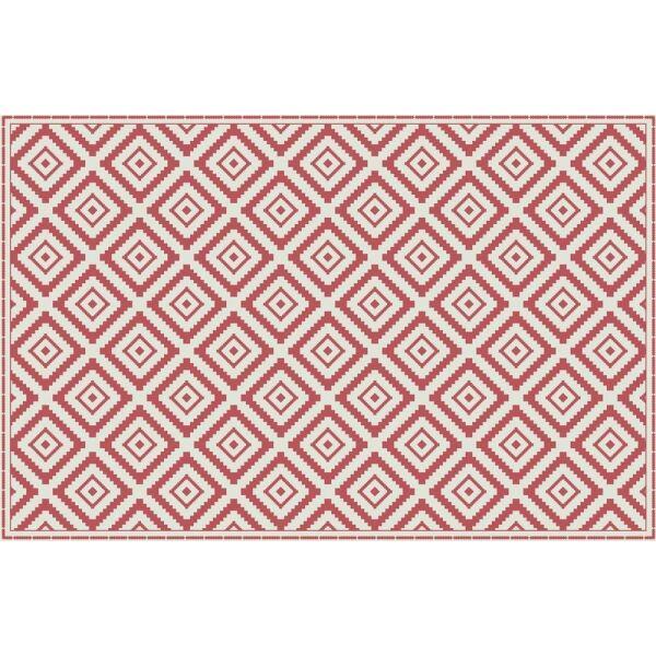 Vinyl Teppich MATTEO Ethno 1 rot 118 x 180 cm