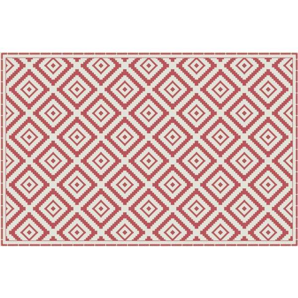 Vinyl Teppich MATTEO Ethno 1 rot 198 x 300 cm