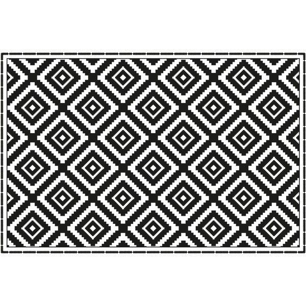 Vinyl Teppich MATTEO Ethno 3 schwarz 40 x 60 cm