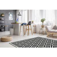 Vinyl Teppich MATTEO Ethno 3 schwarz 60 x 90 cm