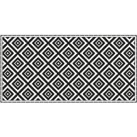 Vinyl Teppich MATTEO Ethno 3 schwarz 70 x 140 cm