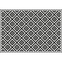 Vinyl Teppich MATTEO Ethno 3 schwarz 170 x 240 cm