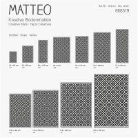 Vinyl Teppich MATTEO Ethno 3 schwarz 198 x 300 cm
