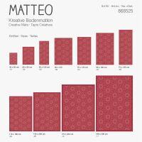Vinyl Teppich MATTEO Ethno 9 rot 90 x 160 cm