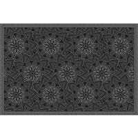 Vinyl Teppich MATTEO Ethno 11 schwarz 60 x 90 cm