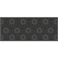 Vinyl Teppich MATTEO Ethno 11 schwarz 50 x 120 cm