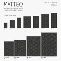 Vinyl Teppich MATTEO Ethno 11 schwarz 70 x 140 cm