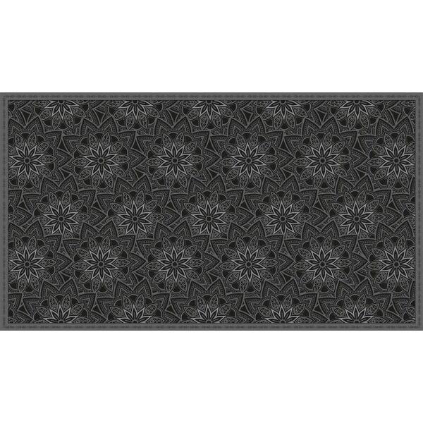 Vinyl Teppich MATTEO Ethno 11 schwarz 90 x 160 cm