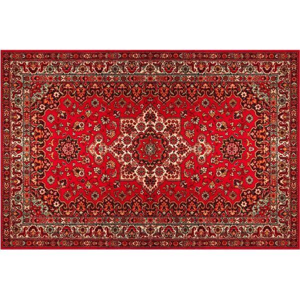 Vinyl Teppich MATTEO Perser rot 40 x 60 cm