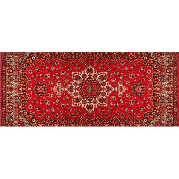 Vinyl Teppich MATTEO Perser rot 50 x 120 cm