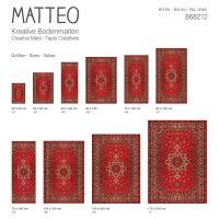 Vinyl Teppich MATTEO Perser rot 90 x 160 cm