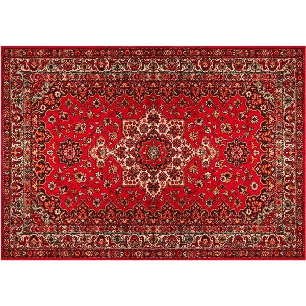 Vinyl Teppich MATTEO Perser rot 140 x 200 cm