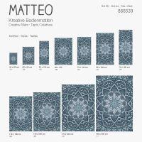 Vinyl Teppich MATTEO Mosaic 2 Petrol