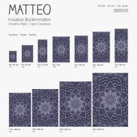 Vinyl Teppich MATTEO Mosaic 3 Dunkelblau 60 x 90 cm