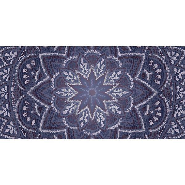 Vinyl Teppich MATTEO Mosaic 3 Dunkelblau 70 x 140 cm