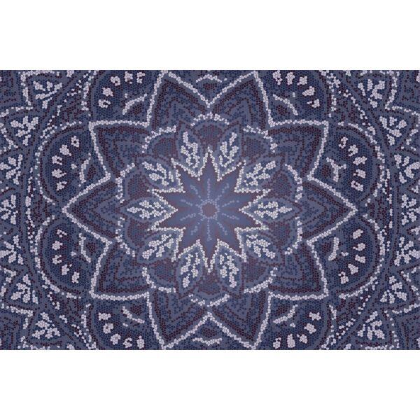 Vinyl Teppich MATTEO Mosaic 3 Dunkelblau 90 x 135 cm