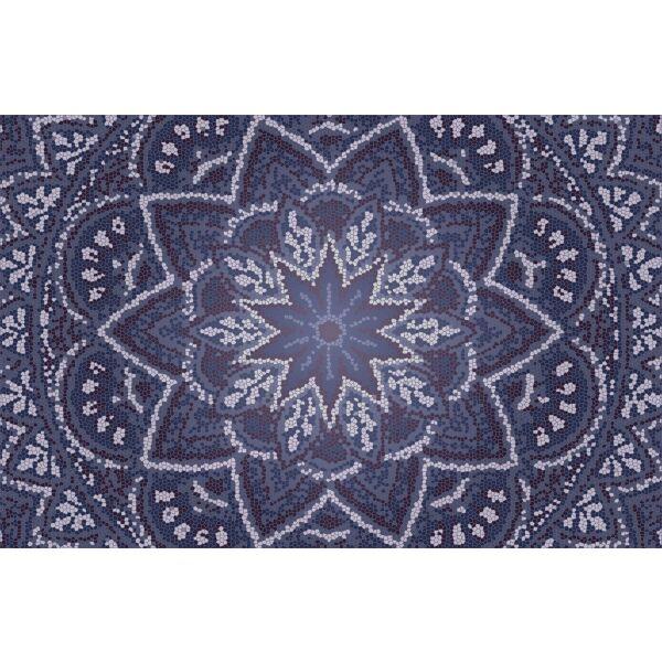 Vinyl Teppich MATTEO Mosaic 3 Dunkelblau 118 x 180 cm