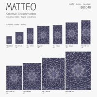 Vinyl Teppich MATTEO Mosaic 3 Dunkelblau 140 x 200 cm