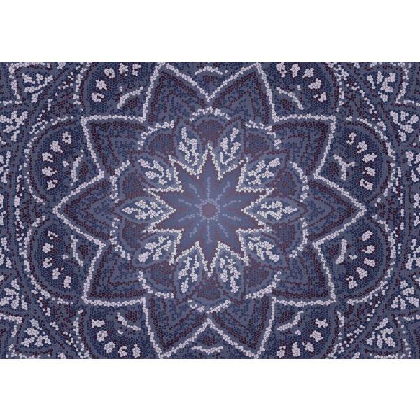Vinyl Teppich MATTEO Mosaic 3 Dunkelblau 170 x 240 cm