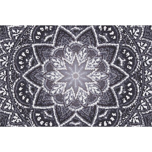 Vinyl Teppich MATTEO Mosaic 4 Dunkelgrau 40 x 60 cm