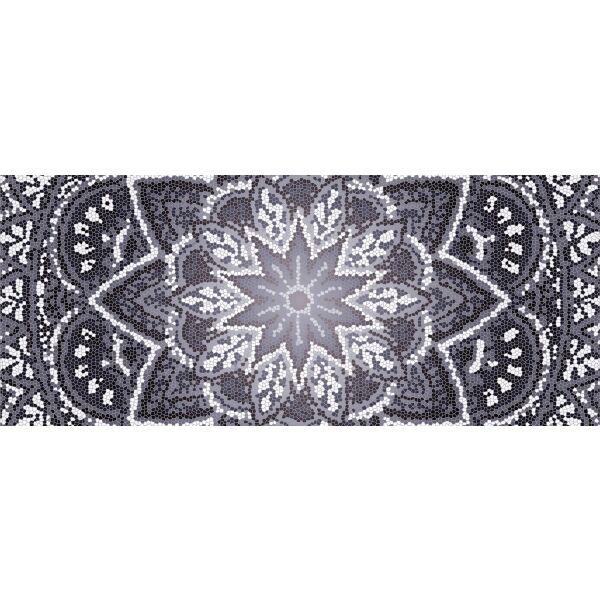 Vinyl Teppich MATTEO Mosaic 4 Dunkelgrau 50 x 120 cm