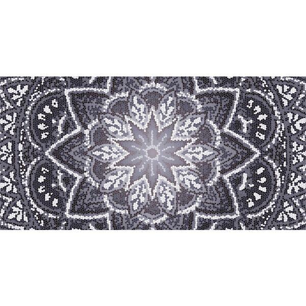 Vinyl Teppich MATTEO Mosaic 4 Dunkelgrau 70 x 140 cm