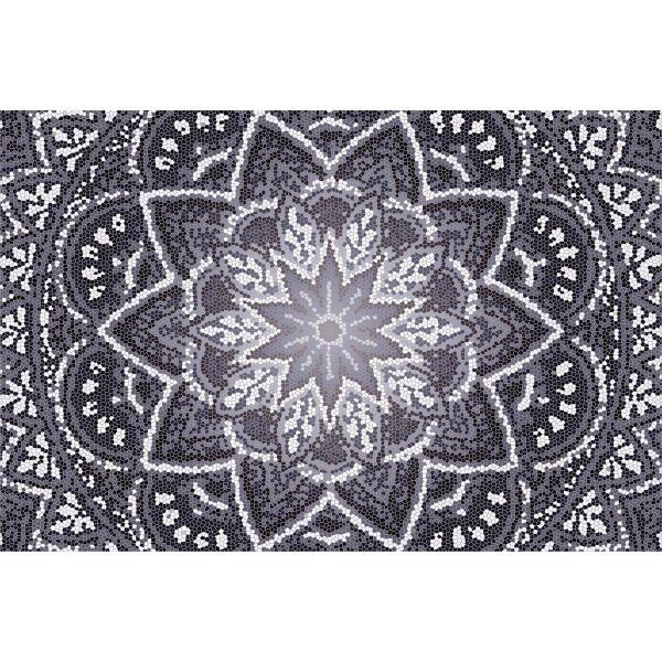 Vinyl Teppich MATTEO Mosaic 4 Dunkelgrau 90 x 135 cm